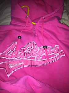 I also got rid of a 'crazy-legged' bird and changed a sweater into a pink hoodie from Las Vegas