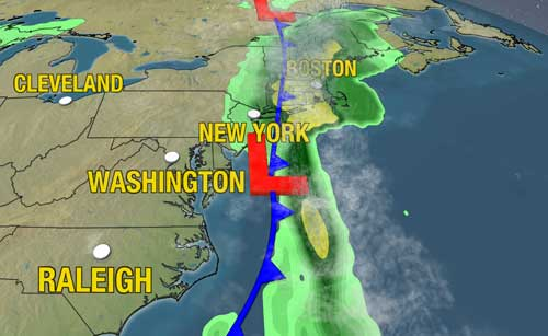 Weather Map East Coast | My blog