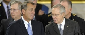 "Republican House Speaker Jim Boehner is reported to have told Democratic Senator Harry Reid, ""Go fuck yourself."""