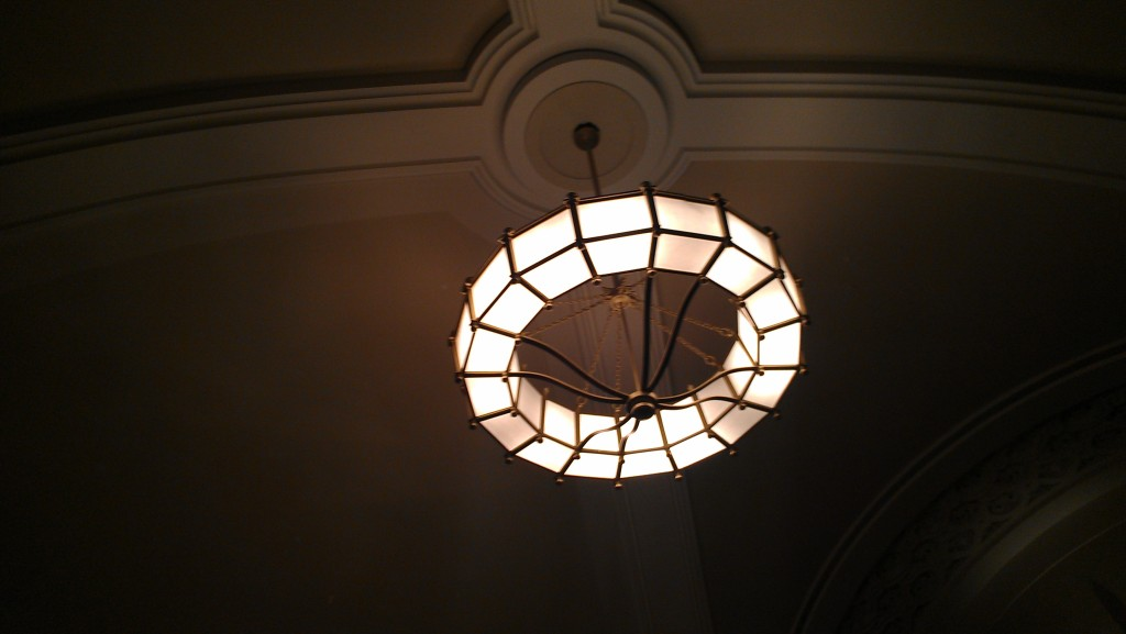 Chandelier at New York Society for Ethical Culture