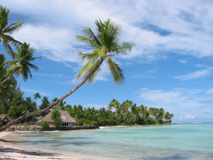 kiribati beach