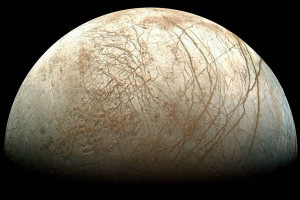Europa, one of four Jupiter moons