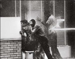 The violent imagery from Birmingham (1963) that helped galvanize the Civil Rights Movement.