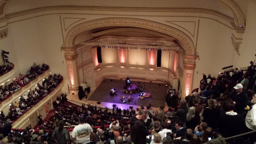 Neil Young's stage at Carnegie Hall