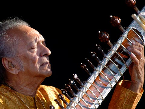 Ravi Shankar performs at Paleo festival, Switzerland in 2005