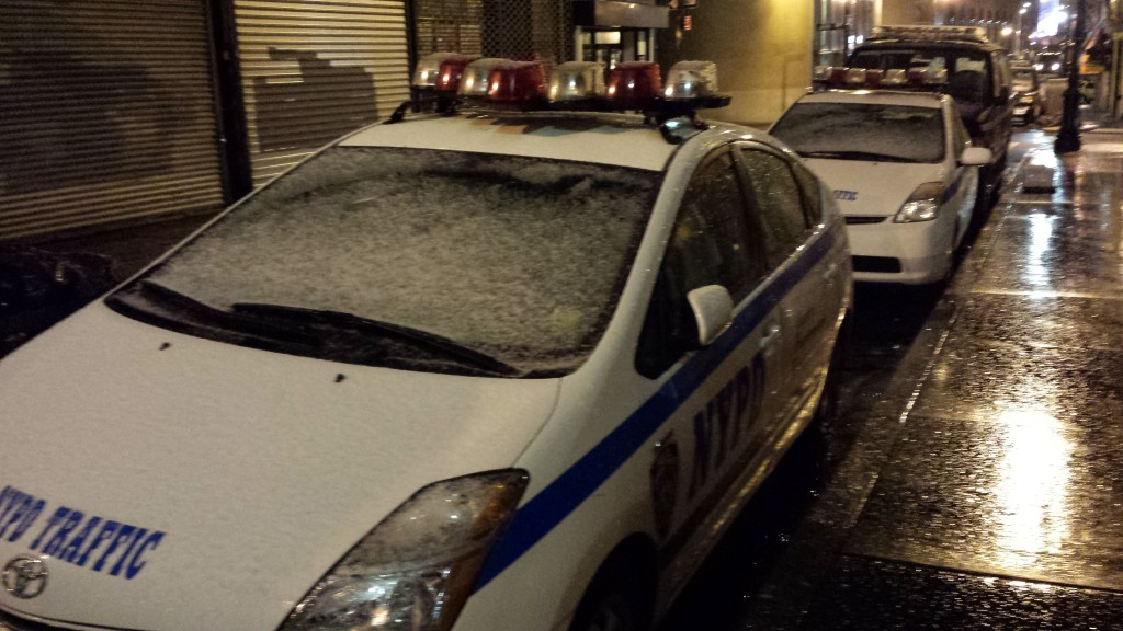 Snow in New York on April 15, 2014