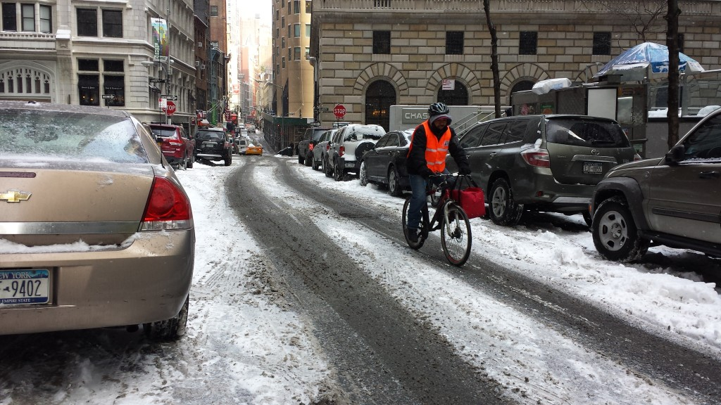 February in Manhattan's Financial District