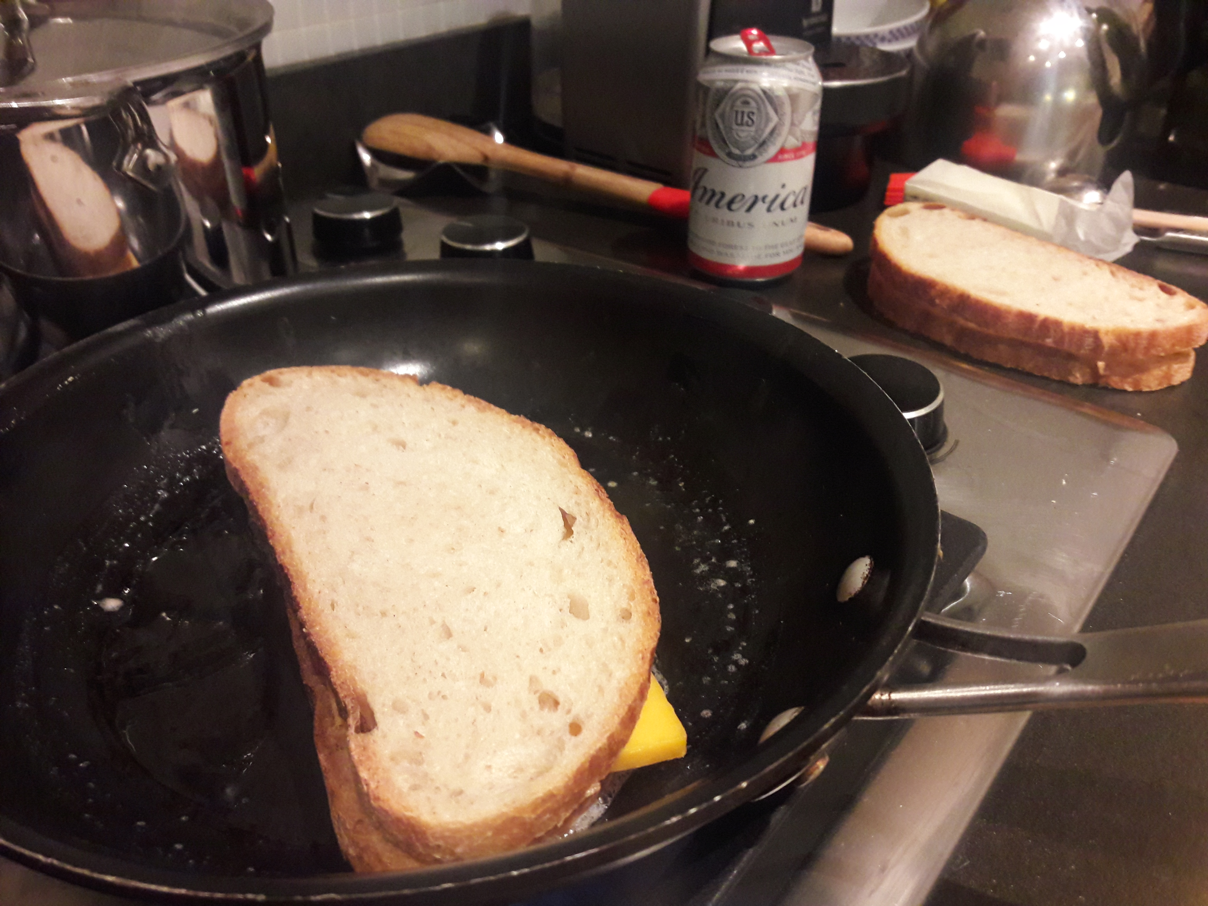 Making Grilled Cheese for Claus Meyer